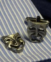 Comedy Tragedy Cufflinks SIngle Face